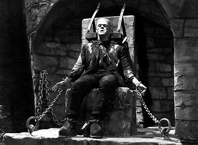 Scary FRANKENSTEIN Boris Karloff PHOTO 1931 Chains Movie Halloween Creepy - Boris Halloween