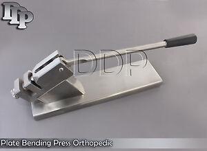 Large bone press plate bending orthopedic instruments