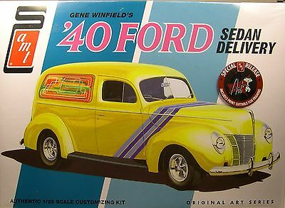 Gene Winfields 1940 Ford Sedan Delivery Amt 1 25 Scale 2N1 Plastic Model Car Kit