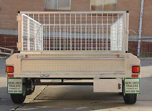 8X5 GALVANISED TANDEM TRAILER 600MM MESH CAGE  2000KG GVM Fyshwick South Canberra Preview