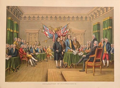 "Kurz and Allison ""Declaration of Independence"" original chromolithograph"