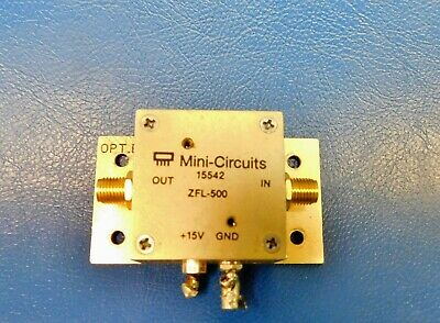 Mini Circuits 15542 Zfl-500 Coaxial Amplifier 500 Mhz Untested