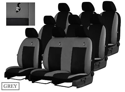RENAULT TRAFIC VAN 2014 ONWARDS ECO LEATHER TAILORED SEAT COVERS MADE TO MEASURE
