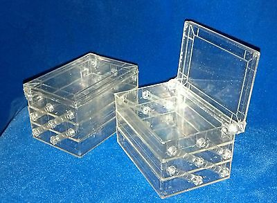 1950s Party Favors (USA Vtg 1950s Lot/50 BOXES CLEAR PLASTIC/METALLIC GLITTER 3-TIER / PARTY)