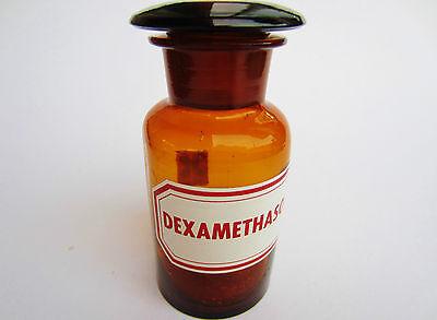 antike alte Apothekerflasche, Giftflasche , Dexamethhason