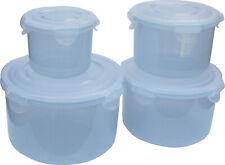 LOCK/&LOCK 4er-Set Schüsseln dunkelgrün ineinander stapelbar 260ml-1,6l Liter Box