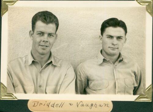 1938 Schofield Barracks 11th FA Hawaii Photo soldiers Briddell & Vaughan