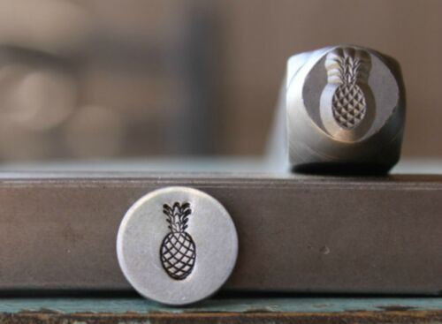SUPPLY GUY 8mm Pineapple Metal Punch Design Stamp SGCH-243