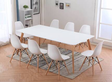 Brand New 200cmx 100cm Dining table and 8 Chairs - Warehouse Dire Hackham Morphett Vale Area Preview