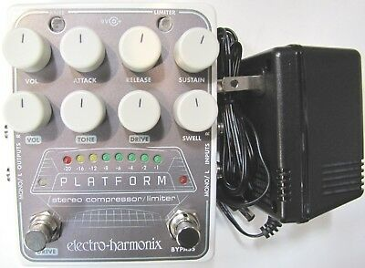 Used Electro Harmonix Ehx Platform Stereo Compressor Limiter Guitar Effect Pedal