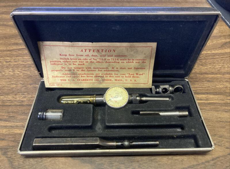 """Starrett Company NO.711-F Dial indicator .001"""" Kit"""