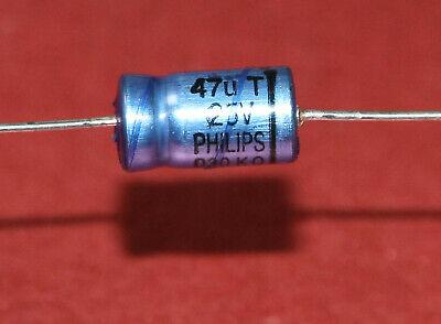 Vintage capacitors Philips 017-T 330uF 63V