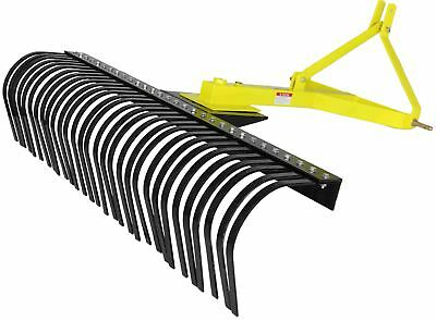 Titan Attachments 6 Landscape Rake For Compact Tractors Tow-behind Garden Tool