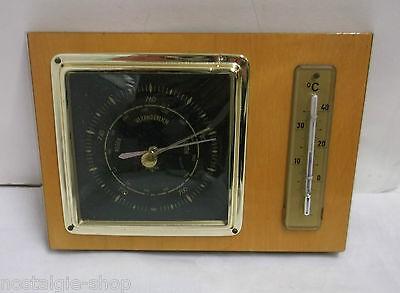 Wetterstation Barometer Thermometer edles Design Echtholz Vintage