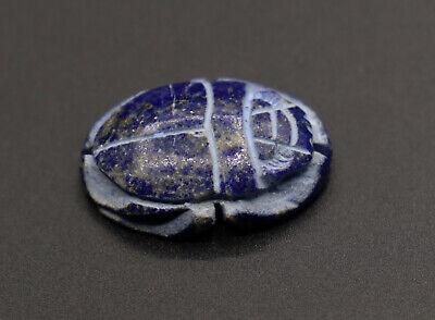 RARE EGYPTIAN AMULET SCARAB Antiques LAPIS LAZULI STONE EGYPT Beetle 4000 BC Scarab Beetle Amulet