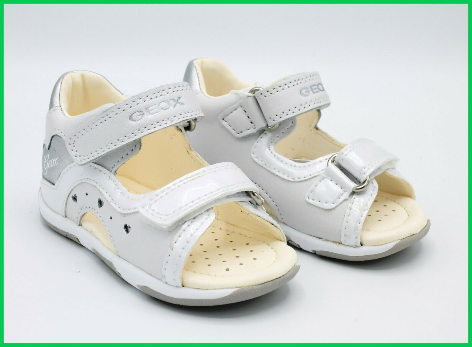 Geox Sandals Baby First Steps Elegant Summer Shoes for Baby Girl Leather 22