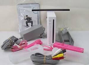 Nintendo Wii Console with Pink Controller Nunchuck IR Bar & more Blakeview Playford Area Preview