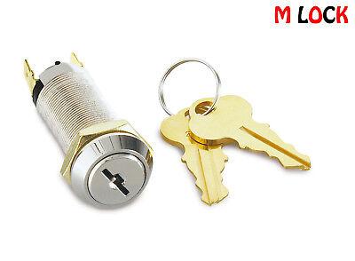 Igt Style Reset Key Switch Lock Single Pole Flat Key Spade Terminal 3302sr 2341