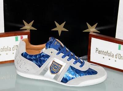 PANTOFOLA D´ORO Leder-Sneaker - IMOLA Scudo Patent Low Olympian Blue - Neu&OVP! Patent Leder