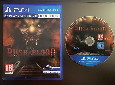RUSH OF BLOOD VR - PS4 - PLAYSTATION 4 - GREAT FUN!