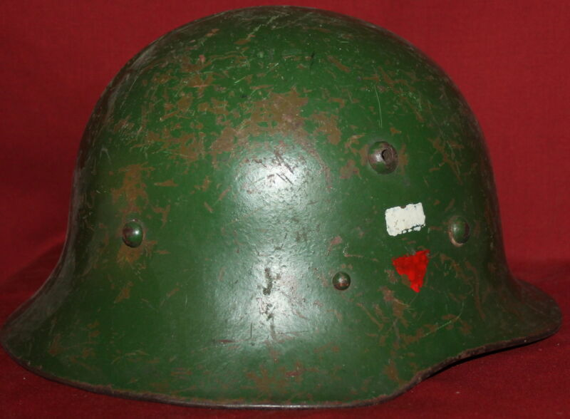 WWII WW2 Bulgarian M36 Model 1936 Military Steel Helmet with Decal and red star