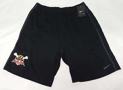 Nike Epic Maryland Shield Terrapins Large Lacrosse Training Gym Shorts + Pockets