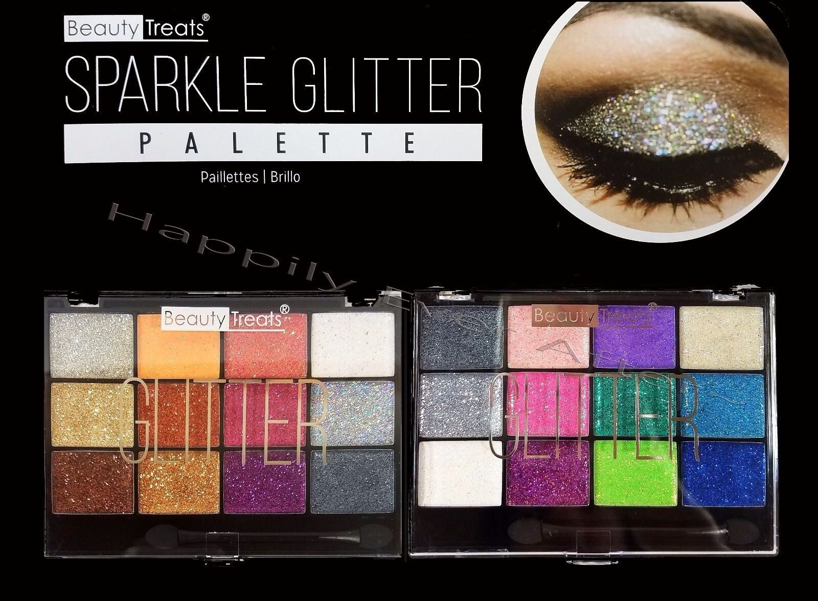 All 2 Palettes! Beauty Treats Sparkle Glitter Eyeshadow Pale