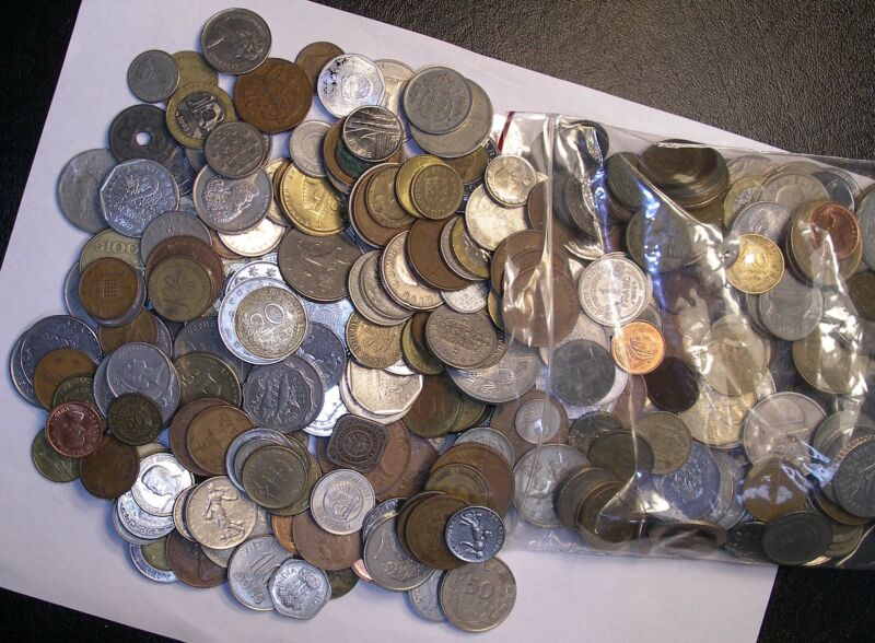 6 Pounds FOREIGN COIN Lot - GOOD MIX - PHOTO