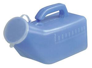 Male Portable Urinal Bottle & Lid Carry Handle 1000ML Reusable Travel