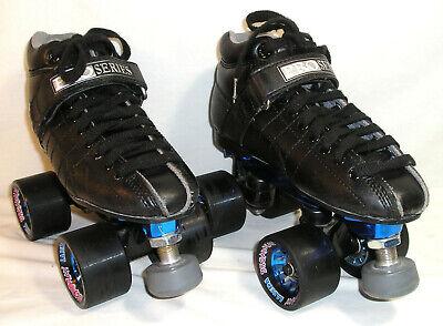 SURE-GRIP XL85 BLACK QUAD// SPEED ROLLER SKATE PACKAGE MEN/'S SIZE 5.5 /& MORE