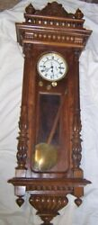 German Gustav Becker 3 Weight Vienna Regulator Wall Clock 53 inch super but