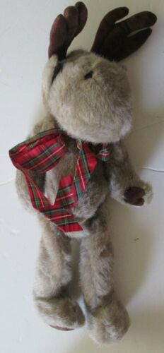 """Vintage BOYDS Bears jointed plush MOOSE with white cloth tag 15"""""""