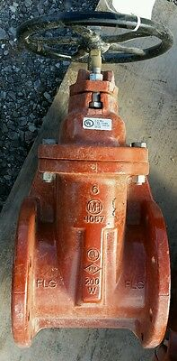Mh Valve 6 A.w.w.a C-509 Resilient Wedge Gate Valve Flange Joint