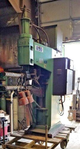 100 KVA Acme Electric Welding Co Press Type Spot Welder #PT1S-30-100 w/Heat Exch