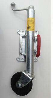 Trailer jockey wheel lock
