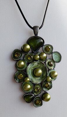 - Perlen Silber Halskette