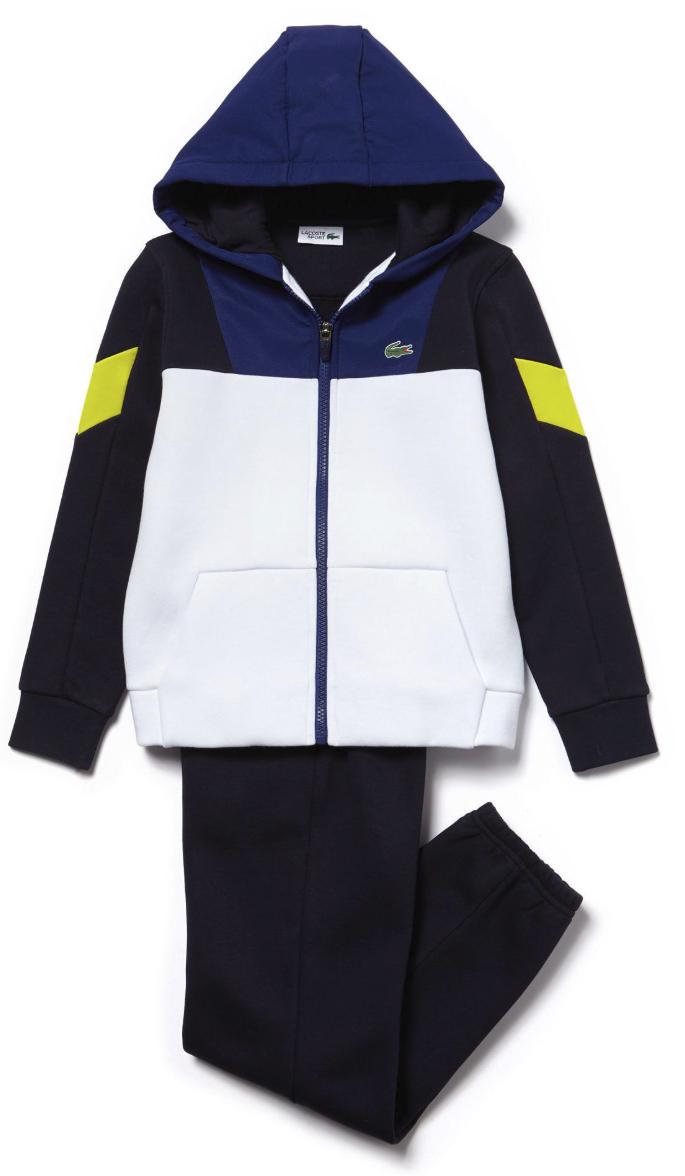 Sale Lacoste Junior SJ2903 Boys Hooded Tracksuit Navy Jogsuit