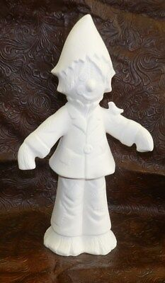 Halloween Pottery To Paint (Ceramic Bisque Halloween Scarecrow * Ready to Paint Pottery * 13