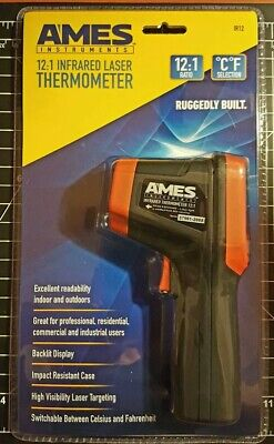 Ames Ir12 Non-contact Infrared Thermometer W Laser New