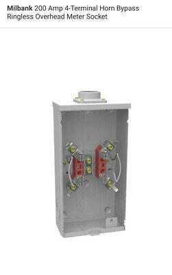 Milbank 200 Amp 4-terminal Horn Bypass Ringless Overhead Meter Socket