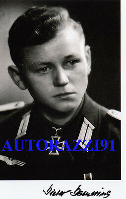 German Knights Cross D.Damerius Courland Pocket, Prussian Offensive SIGNED PHOTO