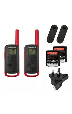 U Motorola T62 Two Way Radio Walkie Talkie Red 8KM PMR446 Licence Free Twin