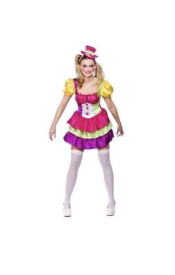 Adult Cute Clown Outfit Fancy Dress Costume Circus Carnival  Dress And Hat (Cute Circus Outfits)