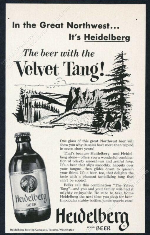 1954 Heidelberg Beer bottle photo vintage print ad