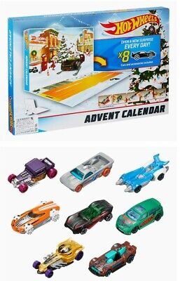 Hot Wheels Advent Calendar w/8 cars, PURPLE BONE SHAKER, 24 Days of gifts,NEW