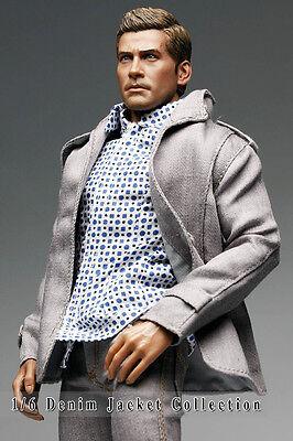 kc0379 Light Grey Smart Denim Jacket for Homme FR Ken Color Infusion