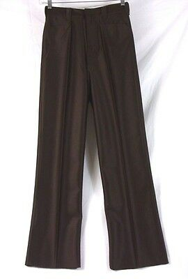 Wild Horse Bronco Western Style Cowboy Dress Pants Dark Brown Size 31 285O