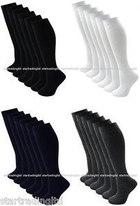 12-pairs-Girls-Ladies-Knee-High-School-Socks-Cotton-Blend-Socks-Long-School-Sock