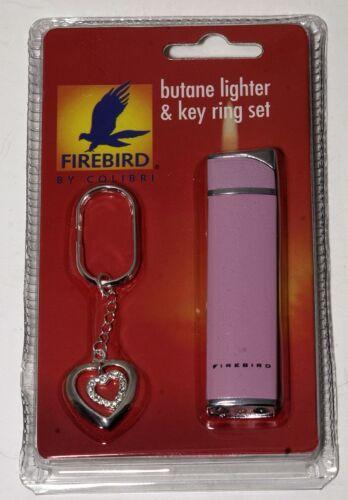 1 FIREBIRD COLIBRI PINK SLIM BUTANE LIGHTER KEY RING SET FREE SHIPPING USA GIFT