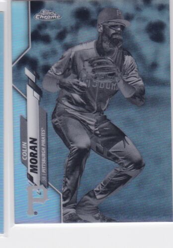 2020 TOPPS CHROME MLB PITTSBURGH PIRATES COLIN MORAN NEGATIVE B&W REFRACTOR